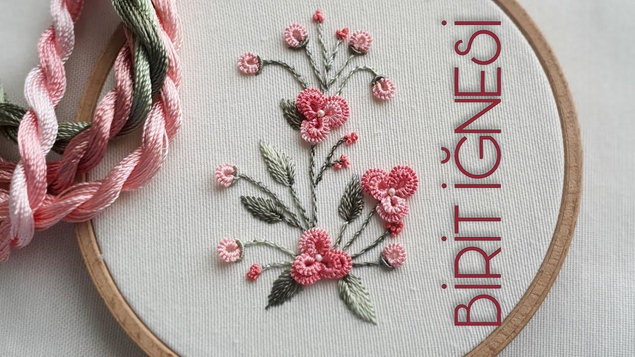 ROKOKO ÇİÇEK NASIL YAPILIR  2  |  Brezilya Nakışı Teknikleri |  Brazilian Embroidery | Rococo stitch