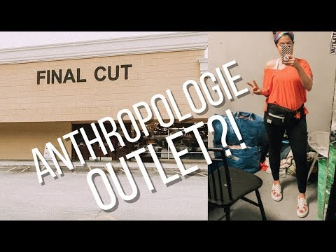 SHOP WITH ME  AT FINAL CUT   Anthropologie, Free People, Urban Outfitters Outlet Haul For Poshmark
