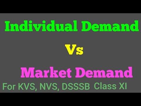 Individual Demand Vs Market Demand class Xl Economics