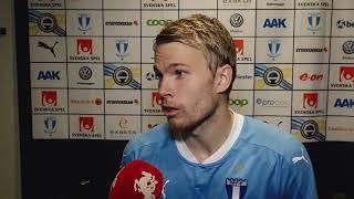 Oscar Lewicki om segern mot Kalmar