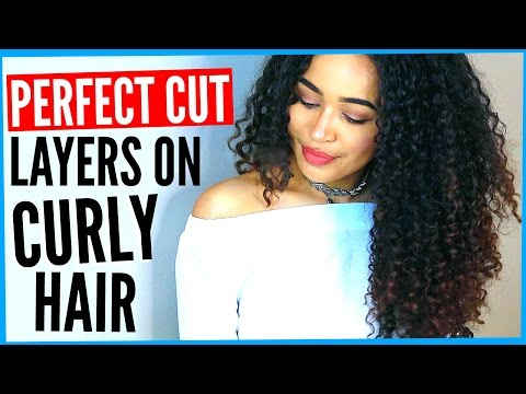 DIY LAYERED HAIRCUT ON CURLY HAIR