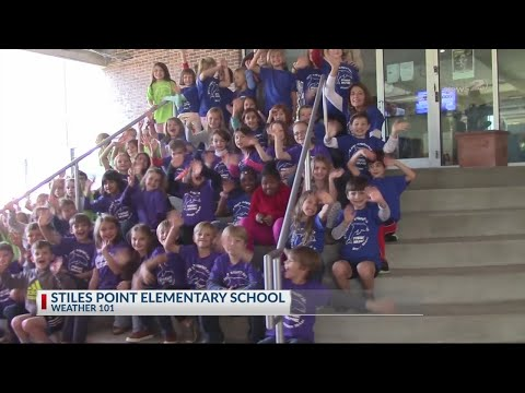 Stiles Point Elementary School visit Rob Fowler at News2_11.26.19