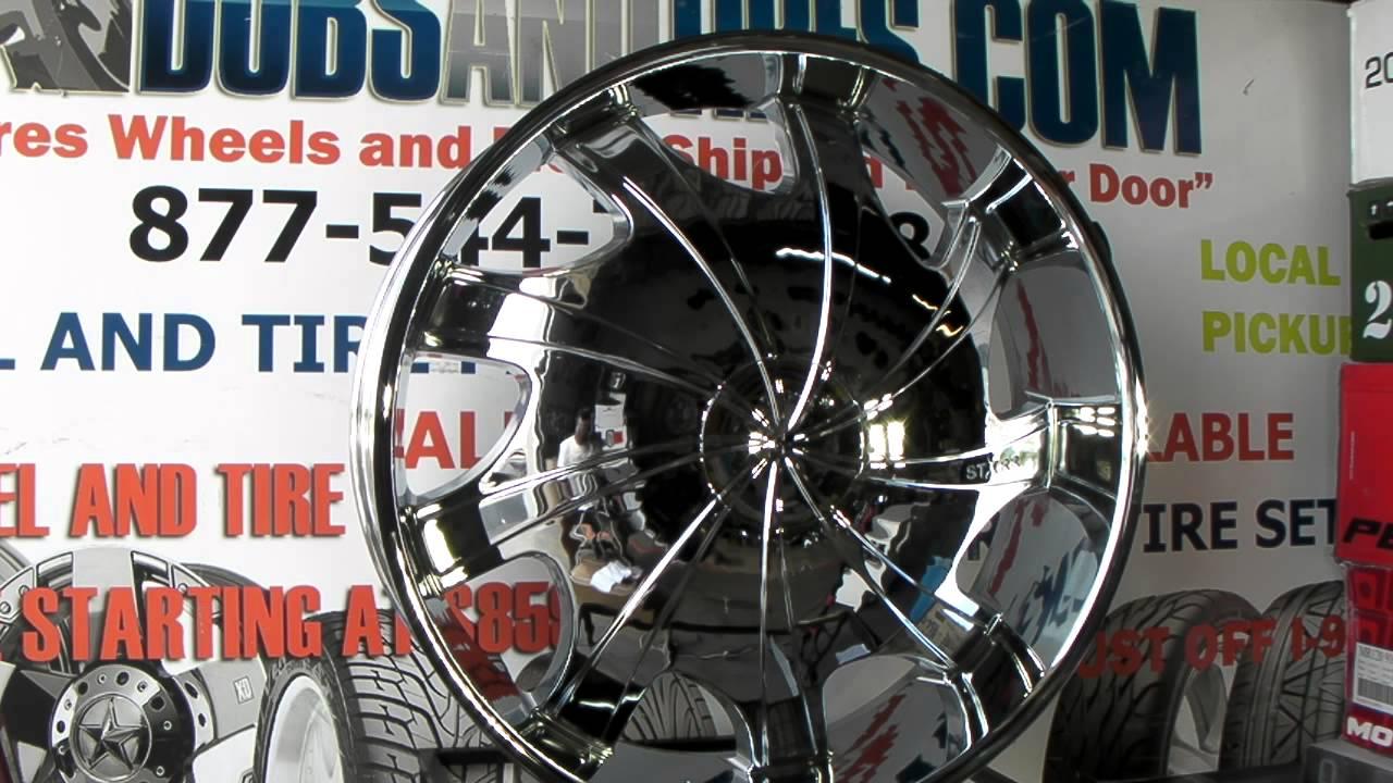 Www Dubsandtires Com 32 Inch Rims Starr Bear 569 Chrome 32 Inch Wheels Starr 32 Inch Chromerims Youtube