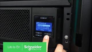 Configuring Smart-UPS Online SRT for 240V Output via Display | Schneider Electric Support