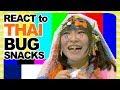 Japanese girl EATING BUGS: Taking the Thai bug challenge