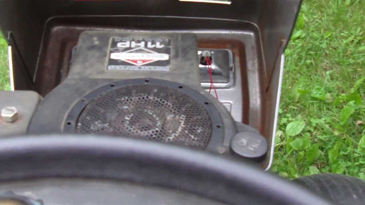 Sears Craftsman Lawn Tractor Lt 11 Youtube
