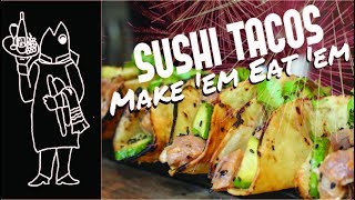 Fish Tacos????? Catch And Cook Tuna Recipes Sushi Tuna Tacos How to Make Sushi Tuna Tacos Crispy