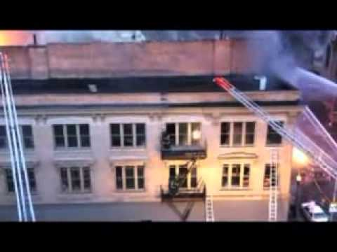 Part 1/3 Baltimore 5 Alarm Fire on The Block with Radio Traffic