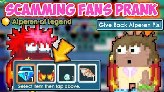Scamming Fans Prank P.t 4 ( 100 Dls And Ghc ) | GrowTopia