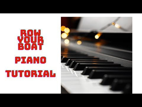 Row Row Row Your Boat Piano Sheet Music With Letters Notes Numbers
