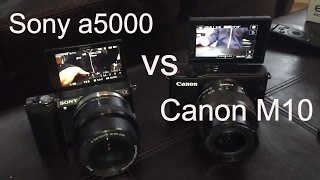 Sony a5000 vs Canon M10 - Vlogging Comparison