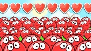 - КРАСНЫЙ ШАРИК 4 ЗОМБИ ПОДЗЕМНЫЕ ХОДЫ мультик игра для детей RED BALL 4 Volume 5 INTO THE CAVE