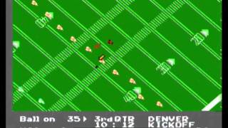 NES Play Action Football (NES) gameplay - Denver @ Miami