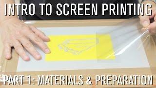 Comment: Intro à l'Écran d'Impression - Partie 1 Matériaux et de Préparation