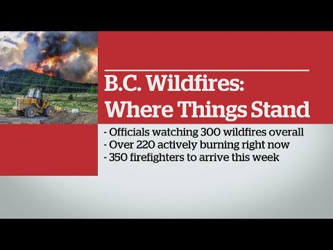 B.C fire force thousands to flee: Update from B.C official