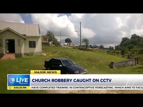 Church robbery caught on camera