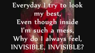 Invisible- Skylar Grey- Lyrics On Screen