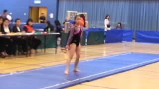 2014香港學界體操比賽自由操......新秀組團體操冠軍嘉諾撒聖心學校甘穎萄