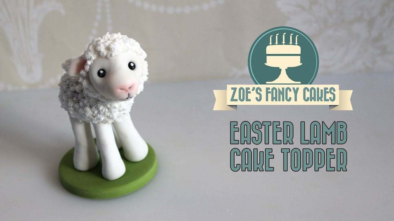 Fondant lamb cake topper how to make a lamb figure cute for Animal cake decoration