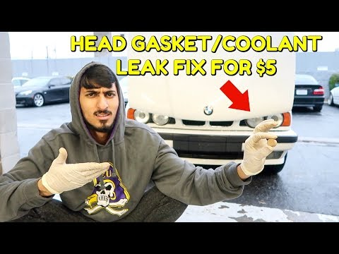 FIX YOUR HEAD GASKET/COOLANT LEAK FOR $5!!