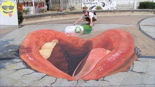 3d Chalk Art Street Painting