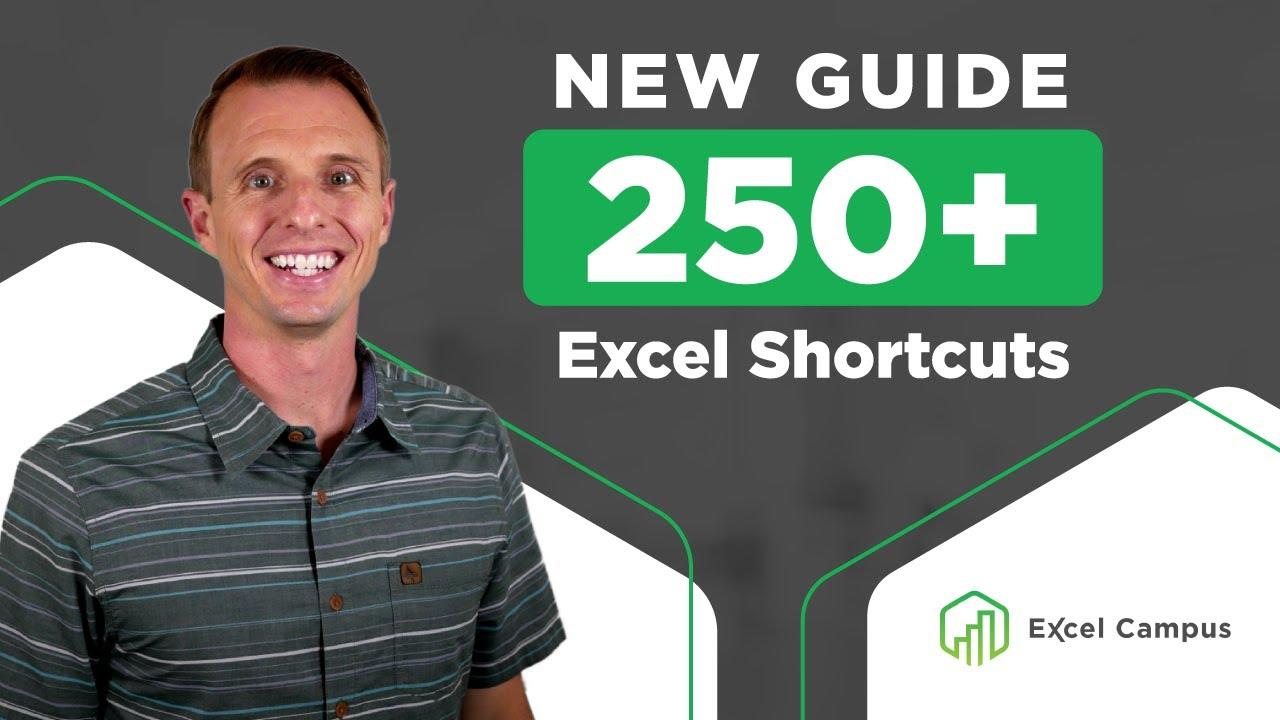 New Excel Keyboard Shortcuts List + PDF Download