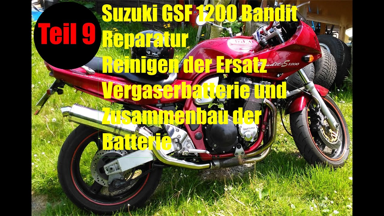 suzuki gsf1200 bandit motorrad reparatur und umbau teil 9. Black Bedroom Furniture Sets. Home Design Ideas
