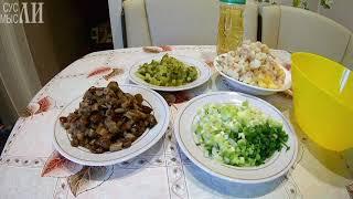 Салат из опят и огурцов / Простые рецепты