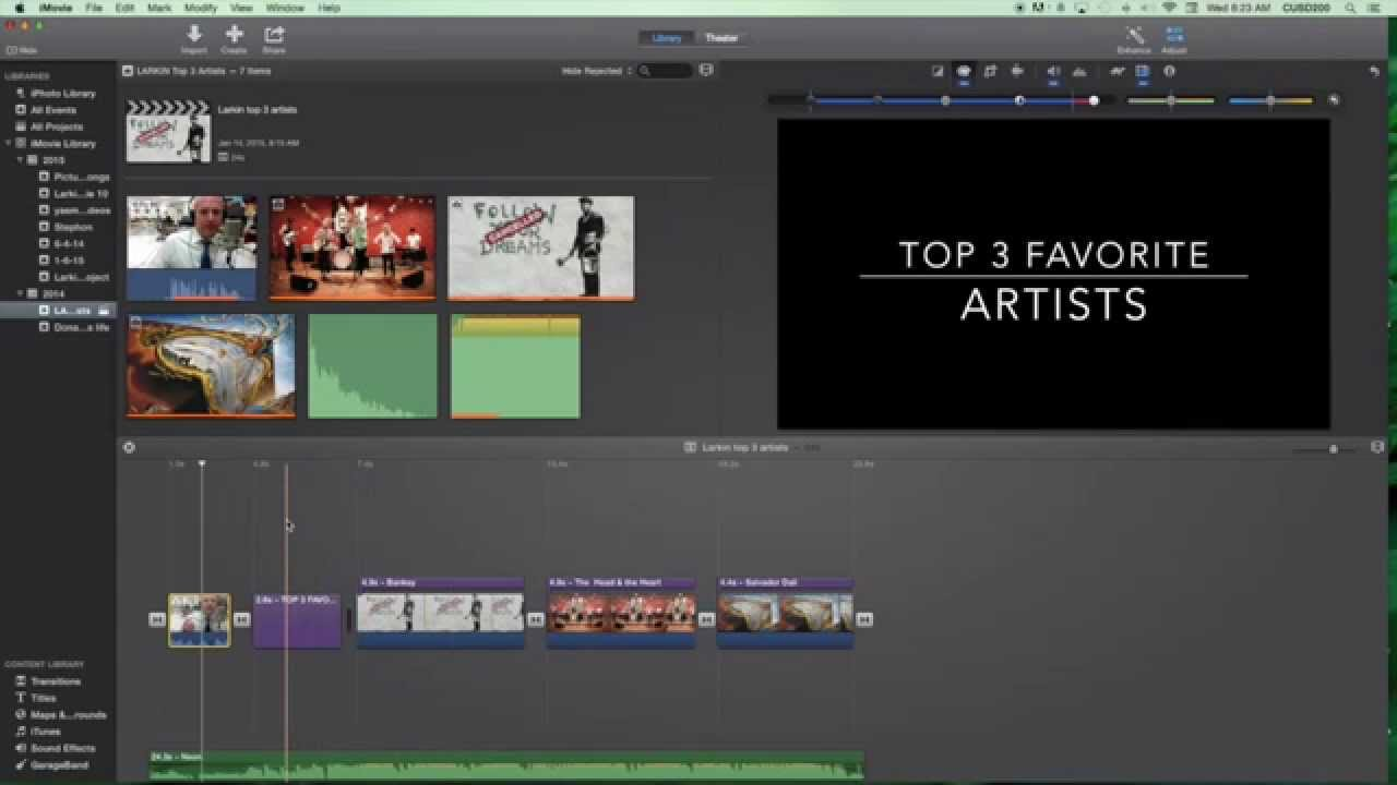 video effects for imovie