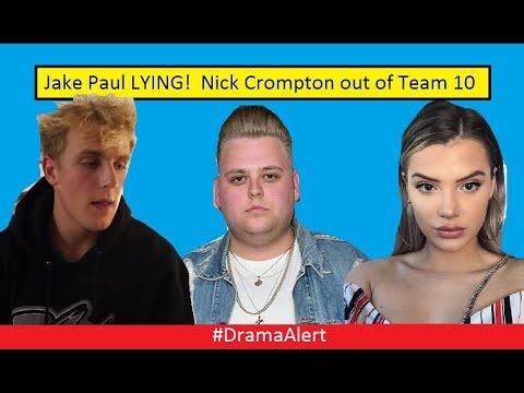 Jake Paul CAUGHT LYING! #DramaAlert Alissa Violet Upset! Nick Crompton leaves Team 10!
