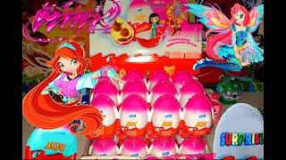 Киндер Сюрпризы,Unboxing Kinder Surprise Eggs Игрушки для детей Феи Клуб Винкс,Toys Club Winx(Киндер Сюрприз Джой по мультику Клуб Винкс,Unboxing Kinder Surprise eggs Winx,24 Киндер Сюрприз Winx на русском языке ---------------..., 2014-12-25T17:34:54.000Z)
