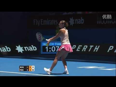 Eugenie Bouchard VS Flavia Pennetta Highlight Perth 2015
