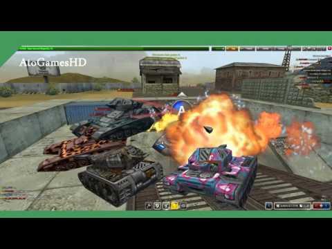Tanki Online Polygon CP Gameplay