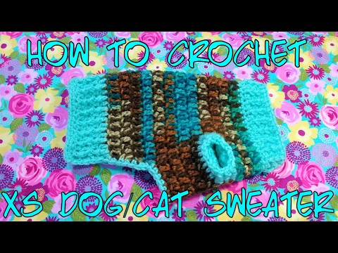 How to Crochet a XS Dog/Cat-Puppy/Kitten Sweater| HD