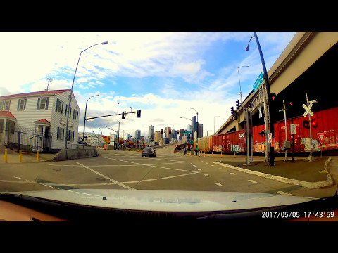 Red light runner Alaska way south Seattle Washington