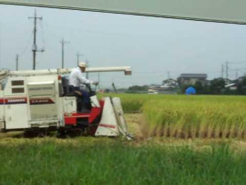 Japanese Rice Combine on tracks