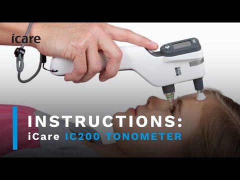"Icare USA ic200 tonometer ""200 degrees of  Flexibility"" Instructional video."