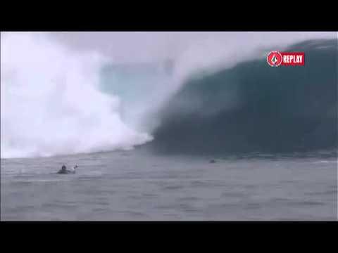 Kelly Slater Commentates Massive Cloudbreak Free Surf Volcom Fiji Pro 2012