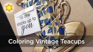 Vintage Teacups - Altenew Bloghop