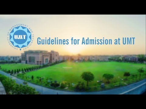 How to Apply through UMT Online Admission Portal