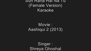 Sun Raha Hai Na Tu (Female Version) - Karaoke - Aashiqui 2 (2013) - Shreya Ghoshal