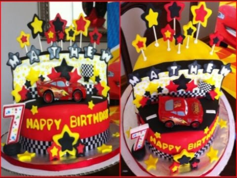 Disney CARS Birthday Fondant Cake YouTube