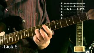 Easy A minor Blues Licks Lesson