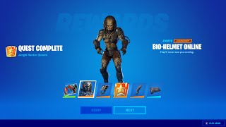 Unlocking *PREDATOR* SKIN in FORTNITE! (NEW BOSS & MYTHIC WEAPON UPDATE)