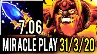 7.06 Earthshaker 31 Kills 14 Min Godlike by Miracle ► So Very Balanced Hero Dota 2