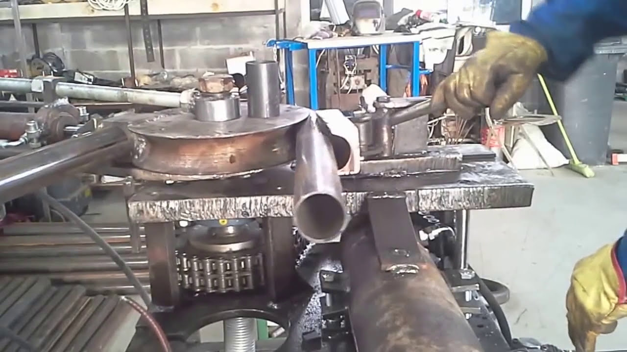 Exhaust Tubing Bender >> 60 mm pipe bender (home made) - YouTube