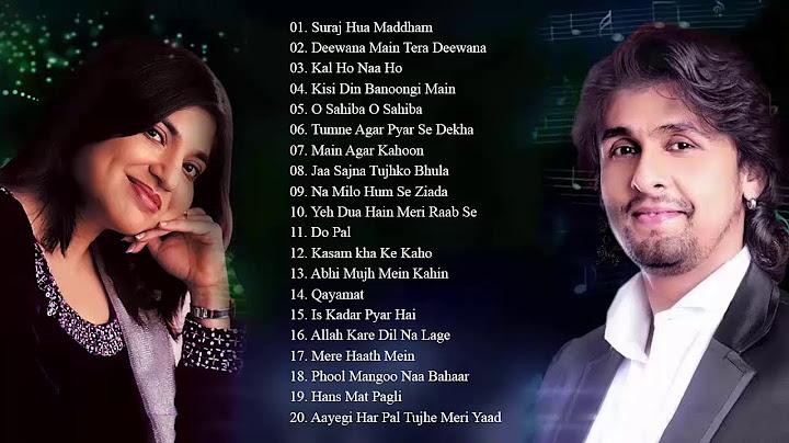 alka yagnik and sonu nigam best heart touching hindi songs  super hit couple songs  audio jukebox