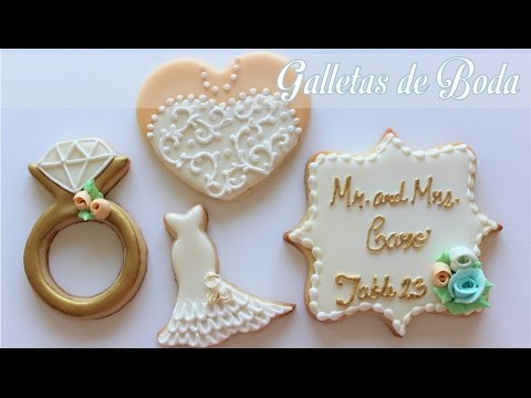 decorated wedding cake cookies galletas para boda 13376