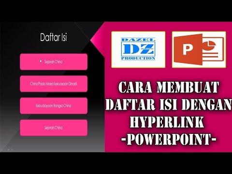 Membuat Daftar Isi dengan Hyperlink pada slide PowerPoint