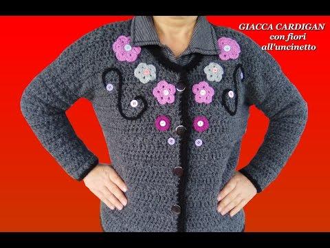 Cardigan Chanel Con Fiori Alluncinetto Parte I Alex Crochet Ogni Taglia